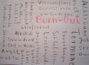 Burn-Out-Grafik Foto